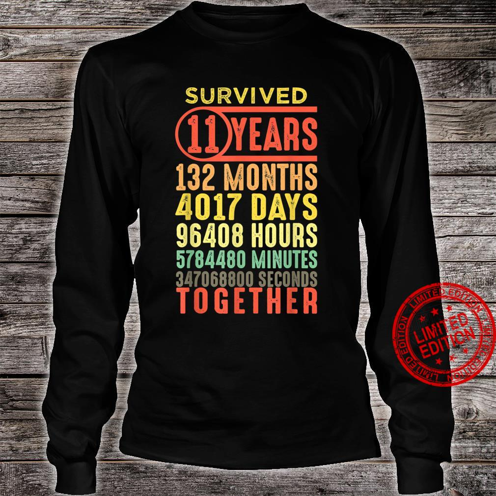 11 Year Anniversary Vintage 11th Wedding Couple Matching Shirt long sleeved