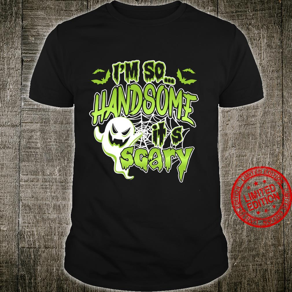 Cute Boys Halloween So Handsome It's Scary Ghost Costume Shirt